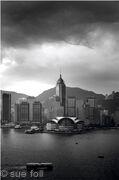 Hong Kong skyline mono