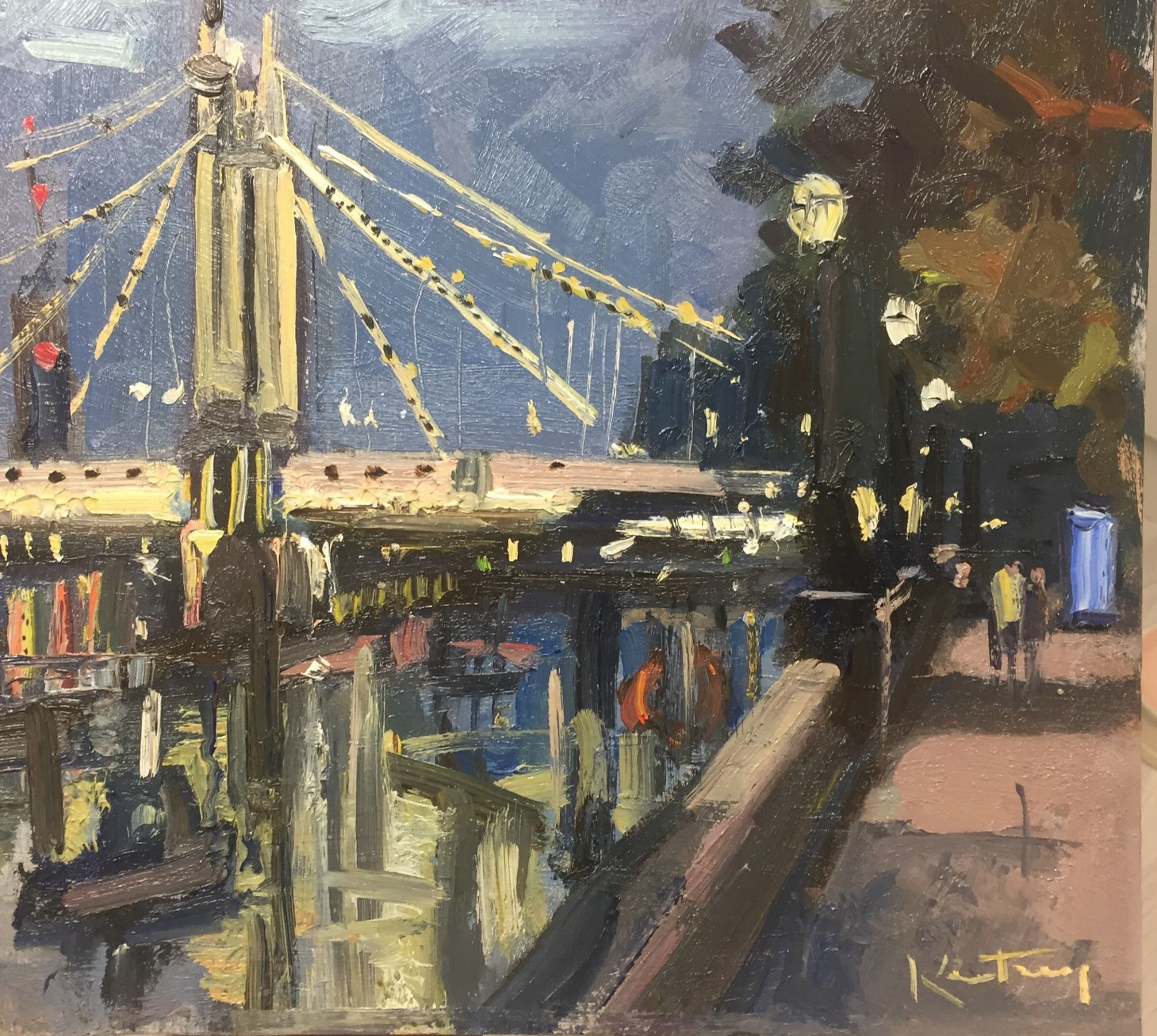 Nighttime, Albert Bridge