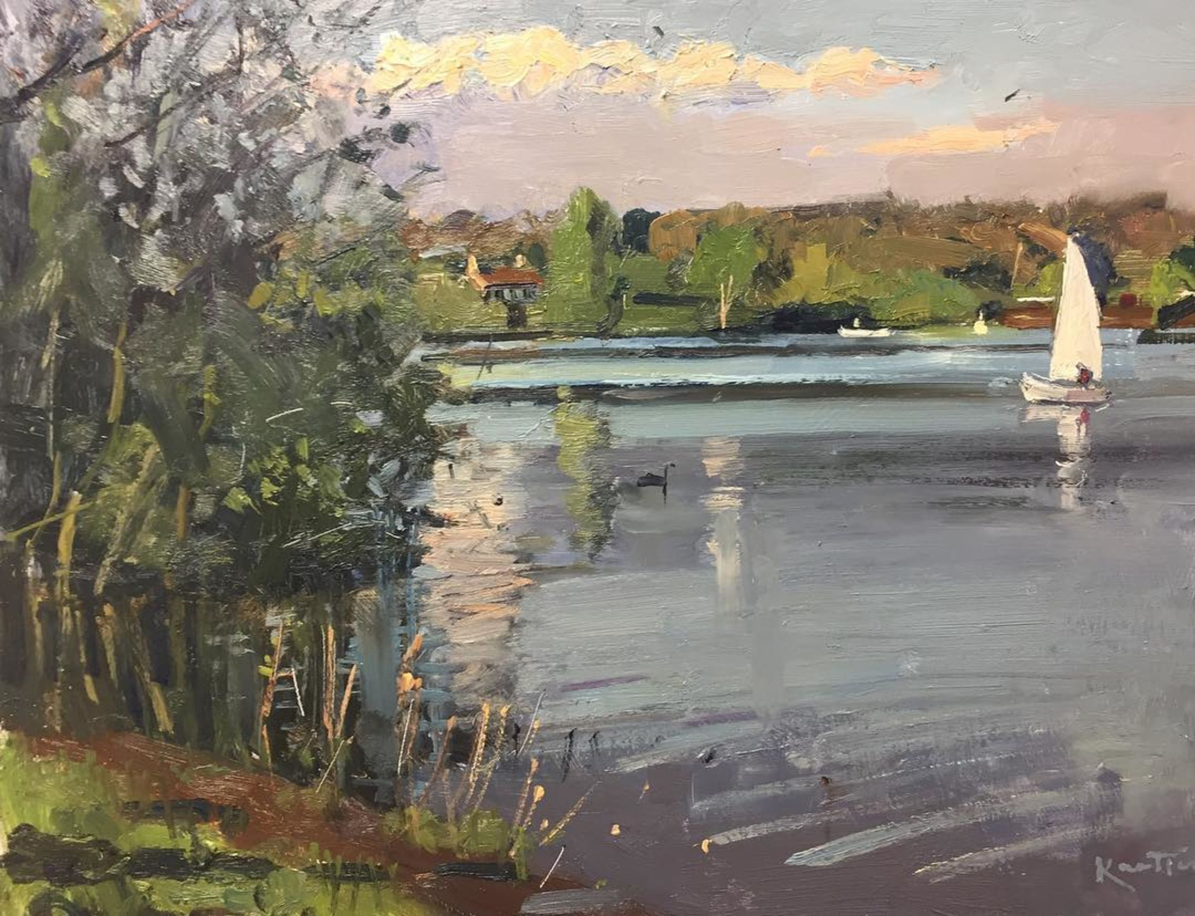Evening sail, Bewl Water