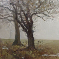Sussex trees, Winter Fog