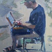 John Stillman at work