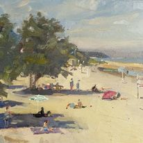 In the shade of the trees, Honfleur