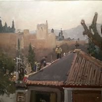 Roofers in the shade of the Alhambra