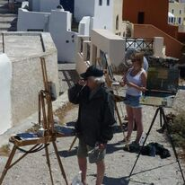 Ken Howard and Daisy Sims Hibditch Santorini
