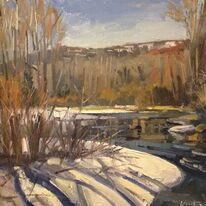 Frozen river Steamboat Springs