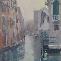 Fog on a  back Canal, Venice