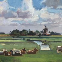 Cows and Windmills, Holland