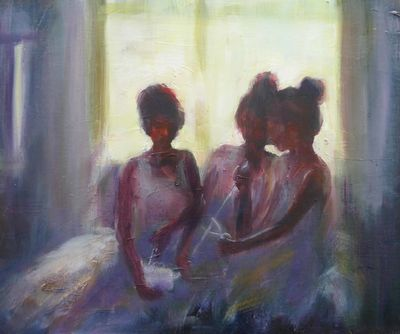 The Three Fates, by the window, study 2