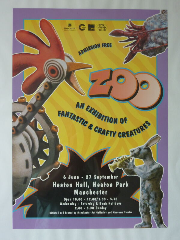 poster for 'zoo' exhibiton - 'roadrunner'