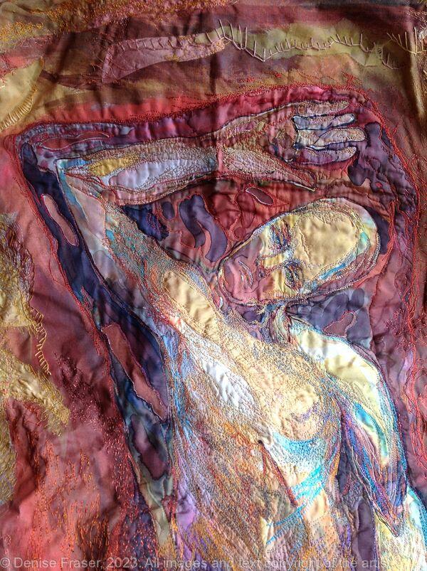 Judgement, detail, art textile.