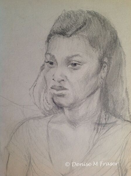 Girl seated, portrait