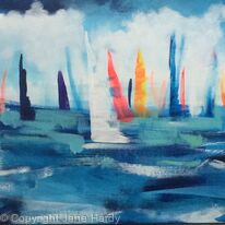 Colourful dancing sails