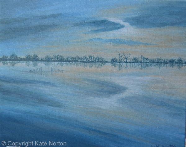 Morning Reflections, River Parrett