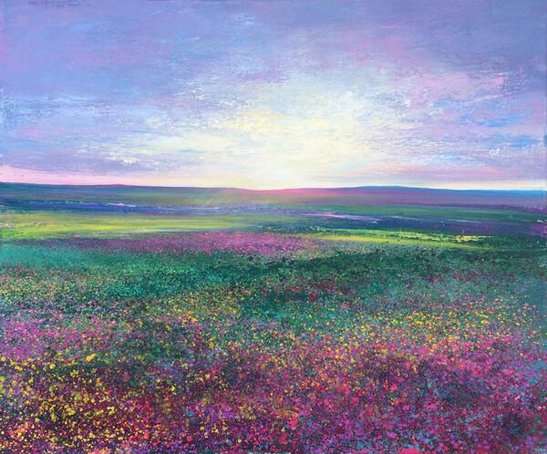 Moorland Evening Light  SOLD