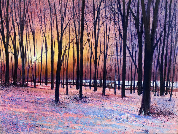 Woodland Winter Sunset SOLD