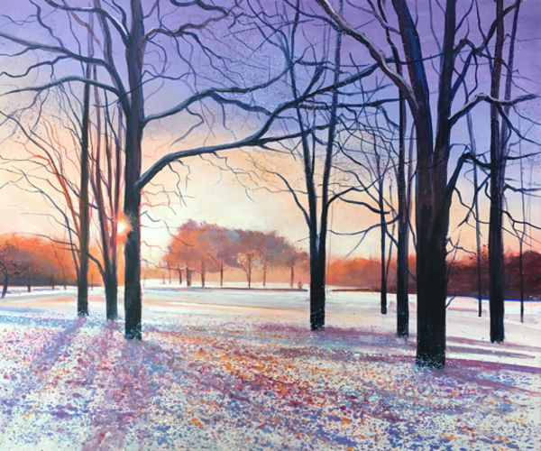 Winter Sunset Day 298 SOLD