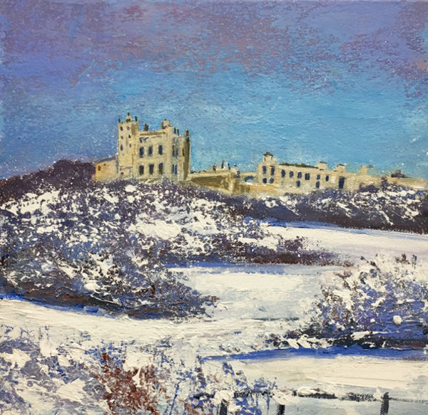 Bozer castle int Snow Day 334 SOLD