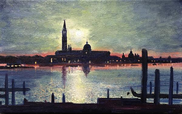 Venetian Moonlight. Day 345 SOLD