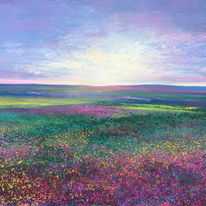 Moorland Evening Light  SOLD