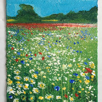 Daisies. Day 96 SOLD