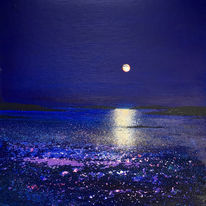 Scilly Moonlight. Day 173 SOLD