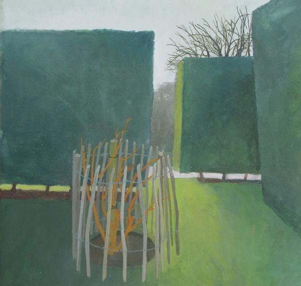February, Hedges, Hyde Hall