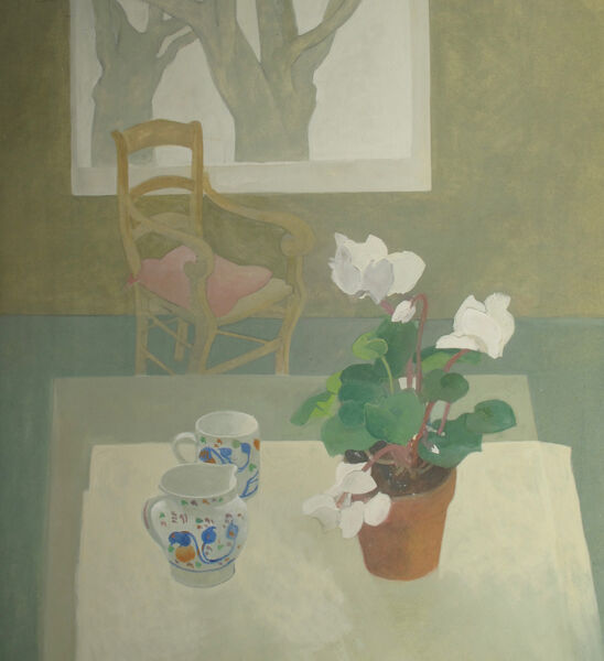 Cyclamen and gaudy ware