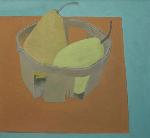Two pears in a basket