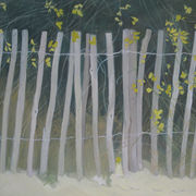 Fence with Yellow flowers