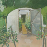 July, polytunnel, Wisley