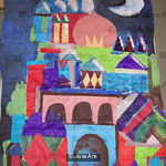Paul Klee -night scene, Fazakerley Primary School, Years 1 and 2, Nov.2009