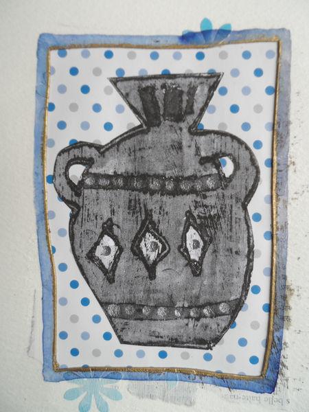 Monoprint urn