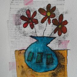 Monoprint flowers