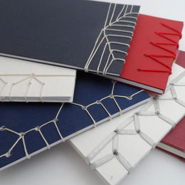 A selection of Japanese stab stitch bindings
