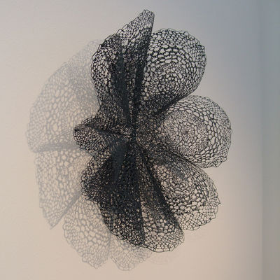 Black Bloom Wall Adornment