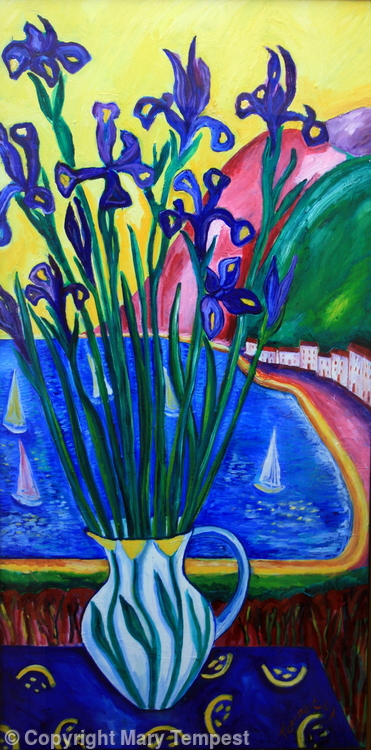 Irises by the Sea