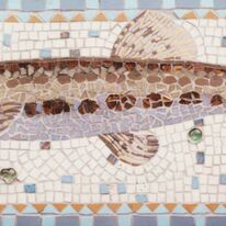 Fish panel detail from The Roundabout
