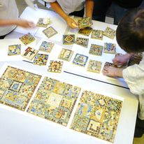 Roman Day Mosaic Making in Schools
