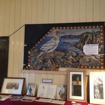 Gannet on show at Devils Bridge Wales before installation