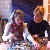 Teresa and me working on the Gannet