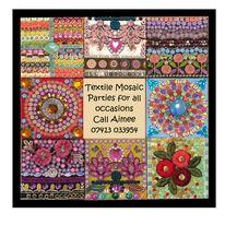 Textile Mosaic Mirror example