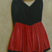 Red and Black Dress Suspended 3