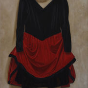 Red and Black Dress Suspended 4