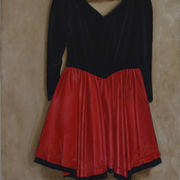 Red and Black Dress Suspended 2