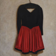 Red and Black Dress Suspended 1