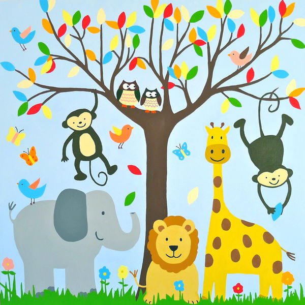 Animal painting for kids images for Paintings of toddlers