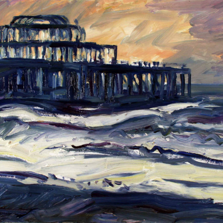 Blue Pier, Rough Sea, 2006