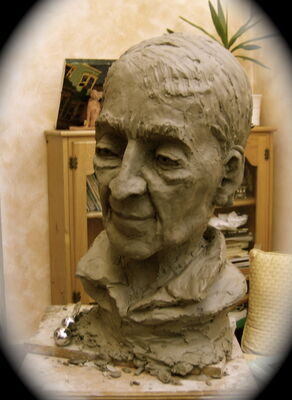 Krishnamurti (in clay)