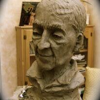 Krishnamurti (in clay)