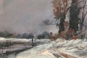 Alan Wickham Winter Scene Sussex